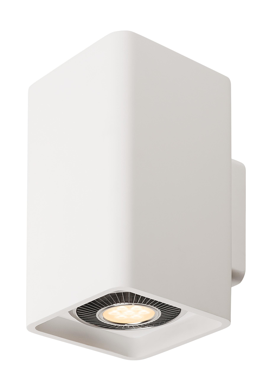 1 Stk PLASTRA, Wandleuchte, zweiflammig, LED GU10 111mm, eckig LI148064--