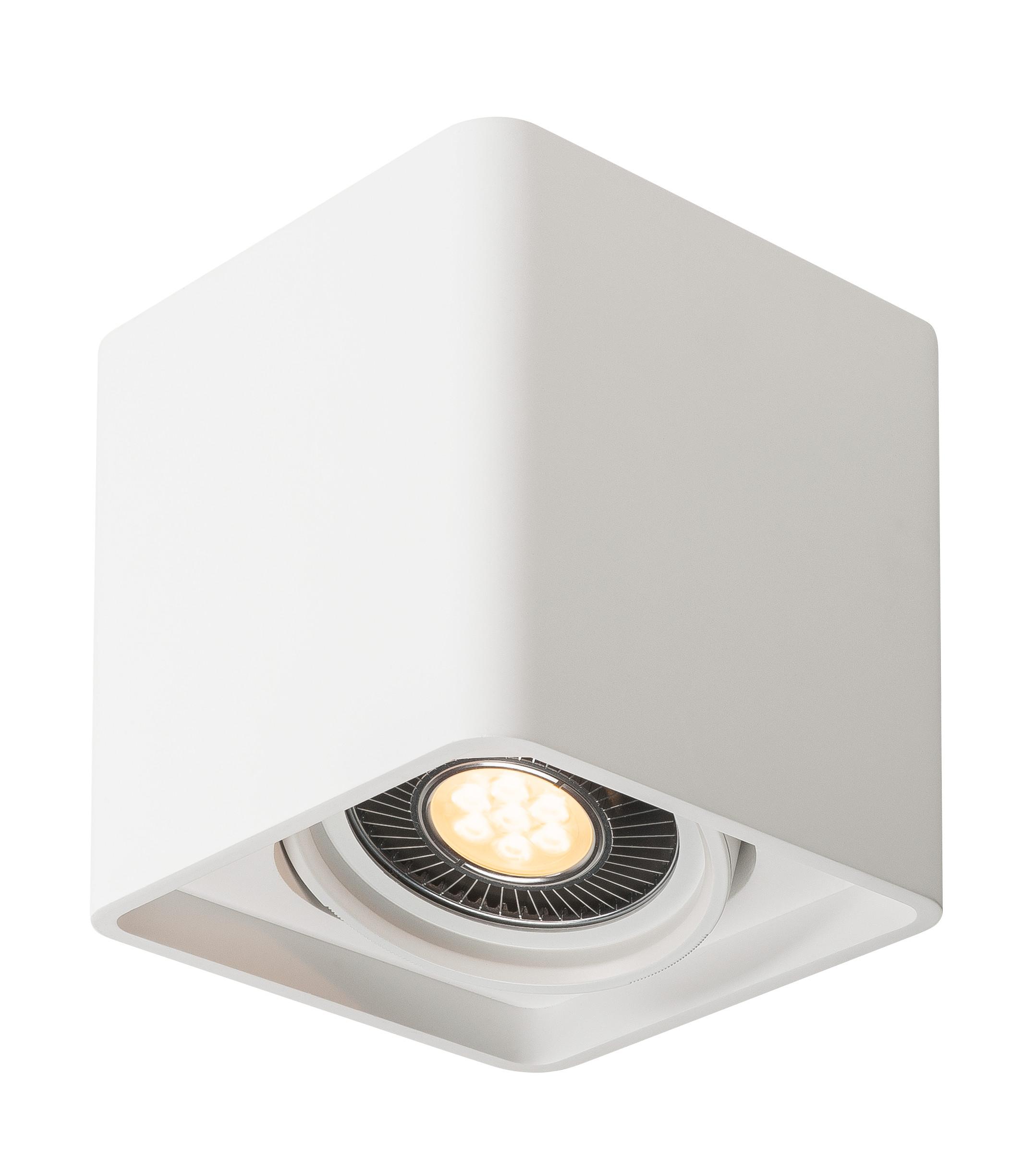 1 Stk PLASTRA, Deckenleuchte, einflammig, LED GU10 111mm, eckig LI148081--