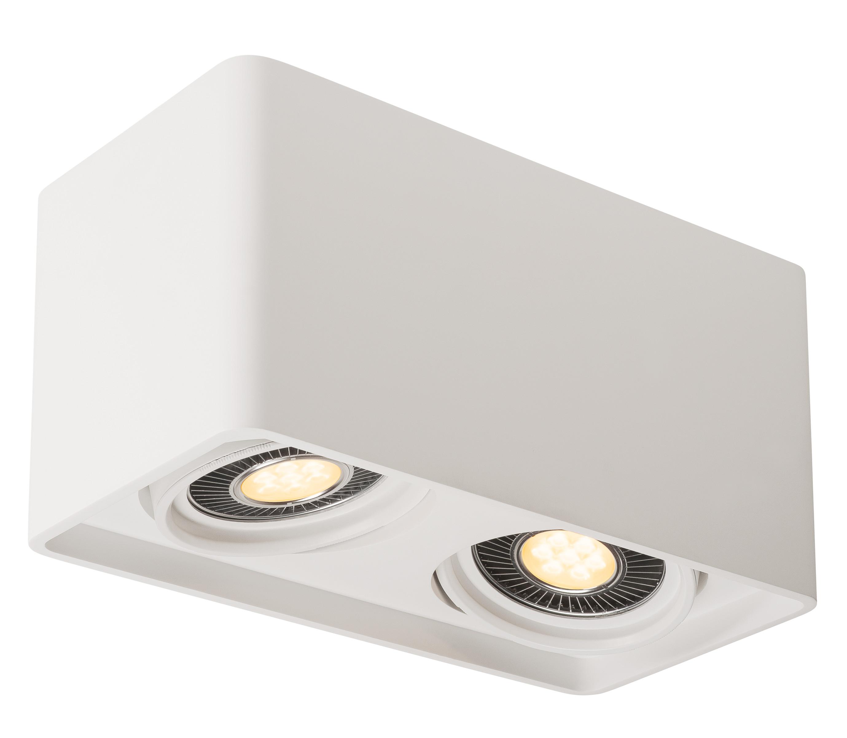 1 Stk PLASTRA, Deckenleuchte, zweiflammig, LED GU10 111mm LI148082--