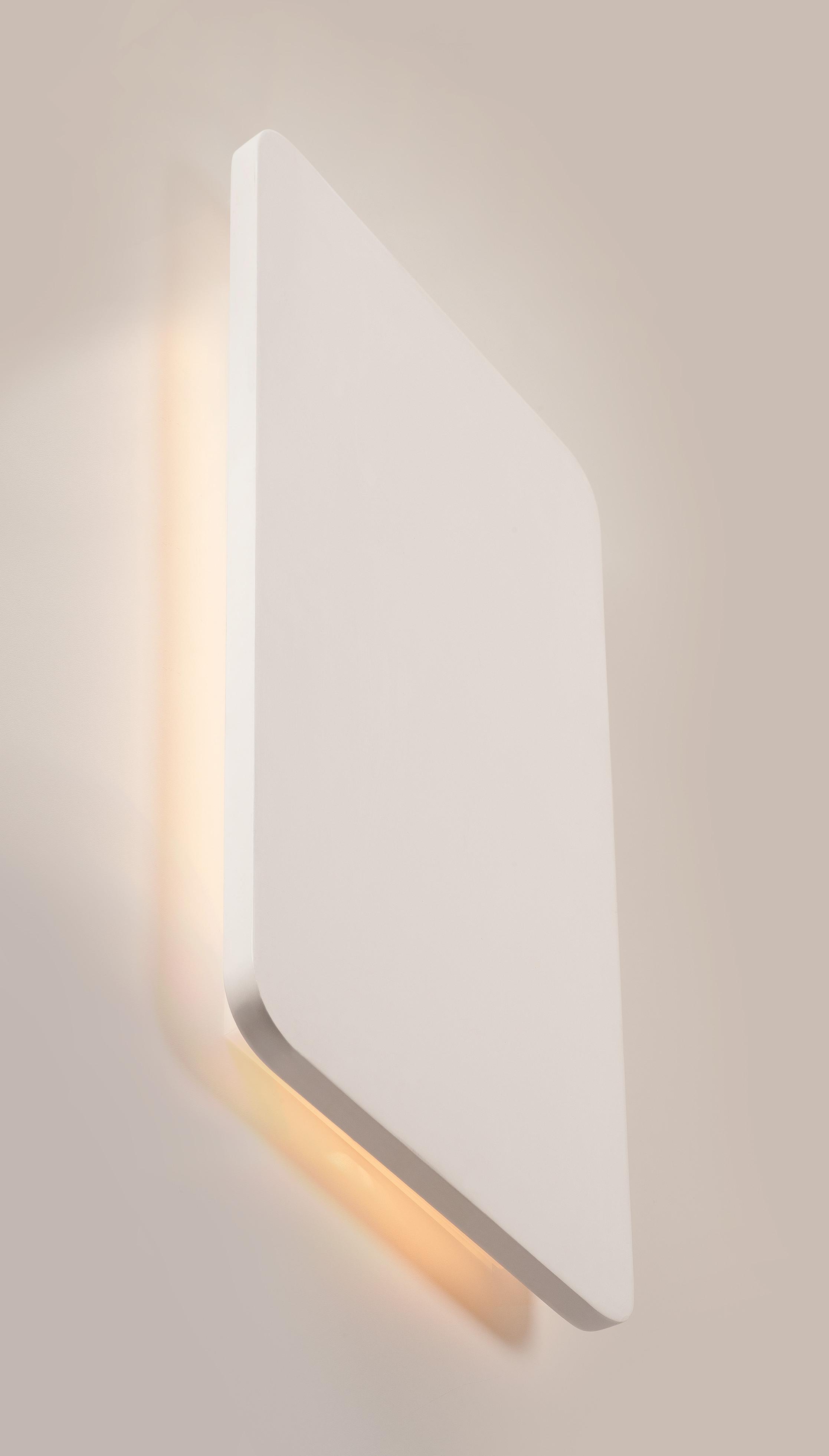 1 Stk PLASTRA, Wandleuchte, LED, 3000K, rechteckig, weißer Gips LI148093--
