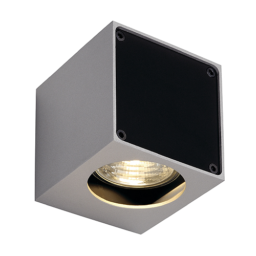 1 Stk ALTRA DICE WL-1 Wandl GU10 max 35W eckig, silbergrau/schwarz LI151504--