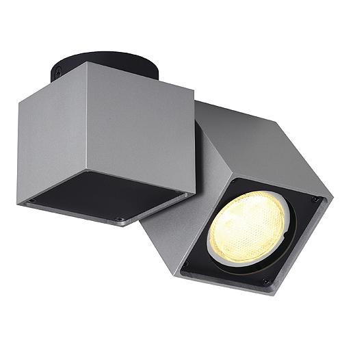 1 Stk ALTRA DICE SPOT 1 Deckenl, GU10, max 50W, silbergrau/schwarz LI151524--