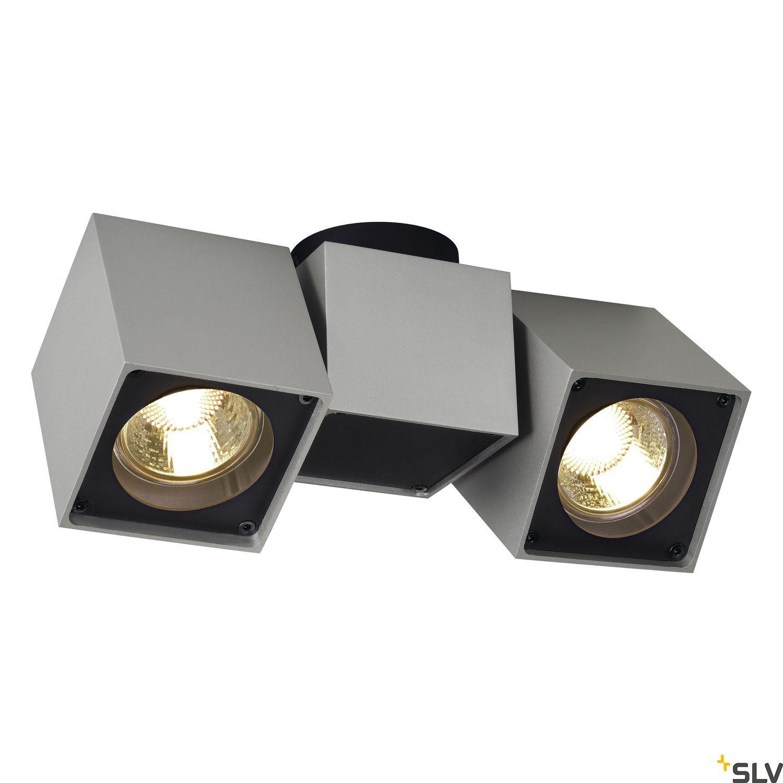 1 Stk ALTRA DICE SPOT 2 Deckenl., GU10 2x50W, silbergrau/schwarz LI151534--