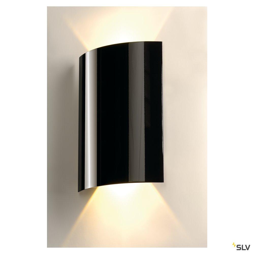 1 Stk SAIL 2 Wandleuchte, 2x3W LED, 3000K, halbrund, schwarz LI151610--