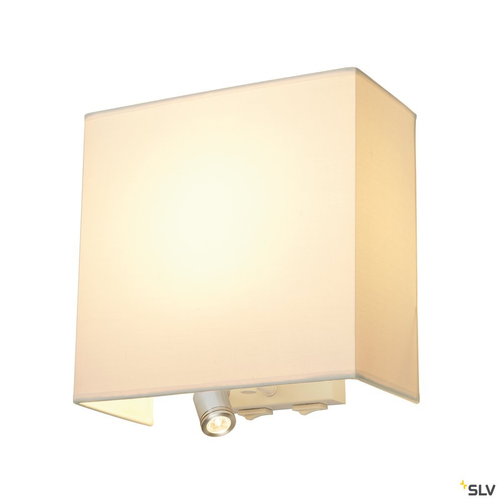 1 Stk ACCANTO LEDspot Wandleuchte, E27 max. 24W, LED 3000K, weiß LI155673--