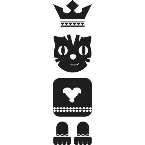 1 Stk Sticker Totem Cat, schwarz LI155981--