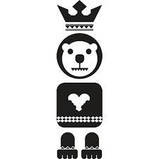 1 Stk Sticker Totem Bear, schwarz LI155982--