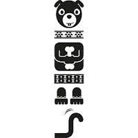 1 Stk Sticker Totem Dog, schwarz LI155983--