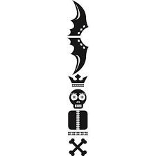 1 Stk Sticker Totem Skull, schwarz LI155985--