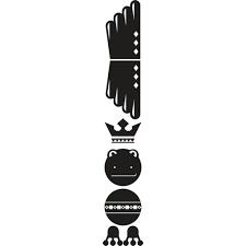 1 Stk Sticker Totem Frog, schwarz LI155986--