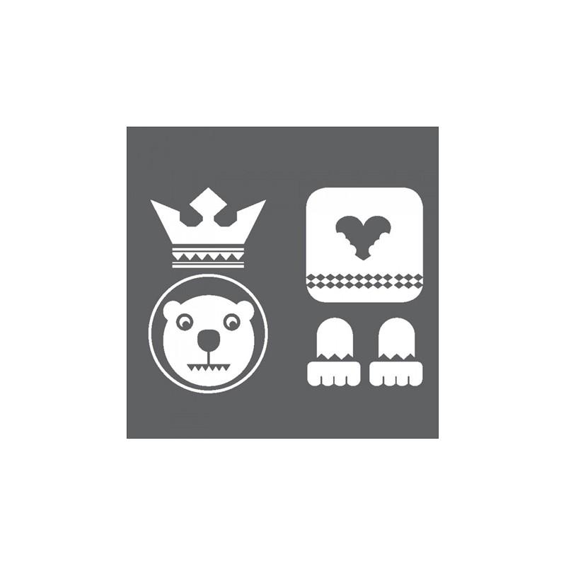 1 Stk Sticker Totem Bear, weiß LI155992--