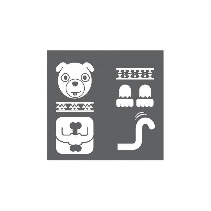 1 Stk Sticker Totem Dog, weiß LI155993--