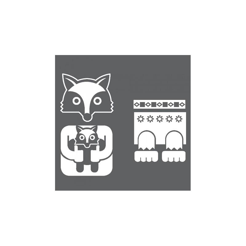 1 Stk Sticker Totem Fox, weiß LI155994--