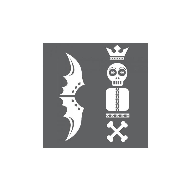 1 Stk Sticker Totem Skull, weiß LI155995--