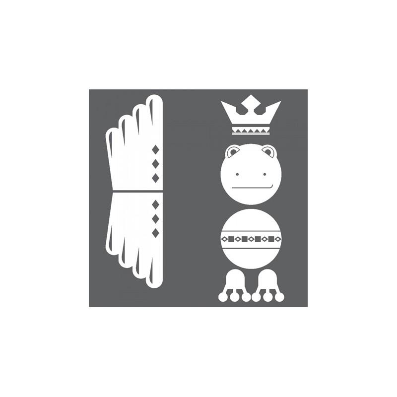 1 Stk Sticker Totem Frog, weiß  LI155996--