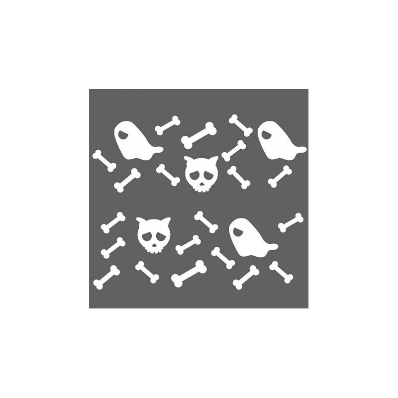 1 Stk Sticker Bones, weiß  LI155997--