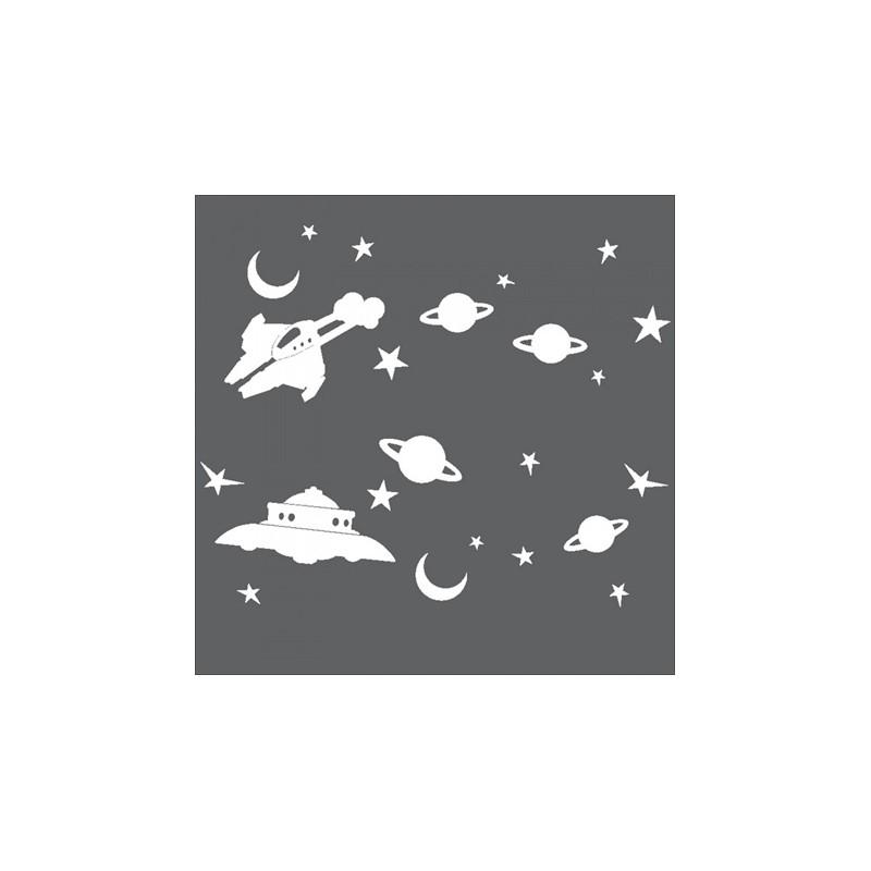 1 Stk Sticker Space, weiß LI155999--
