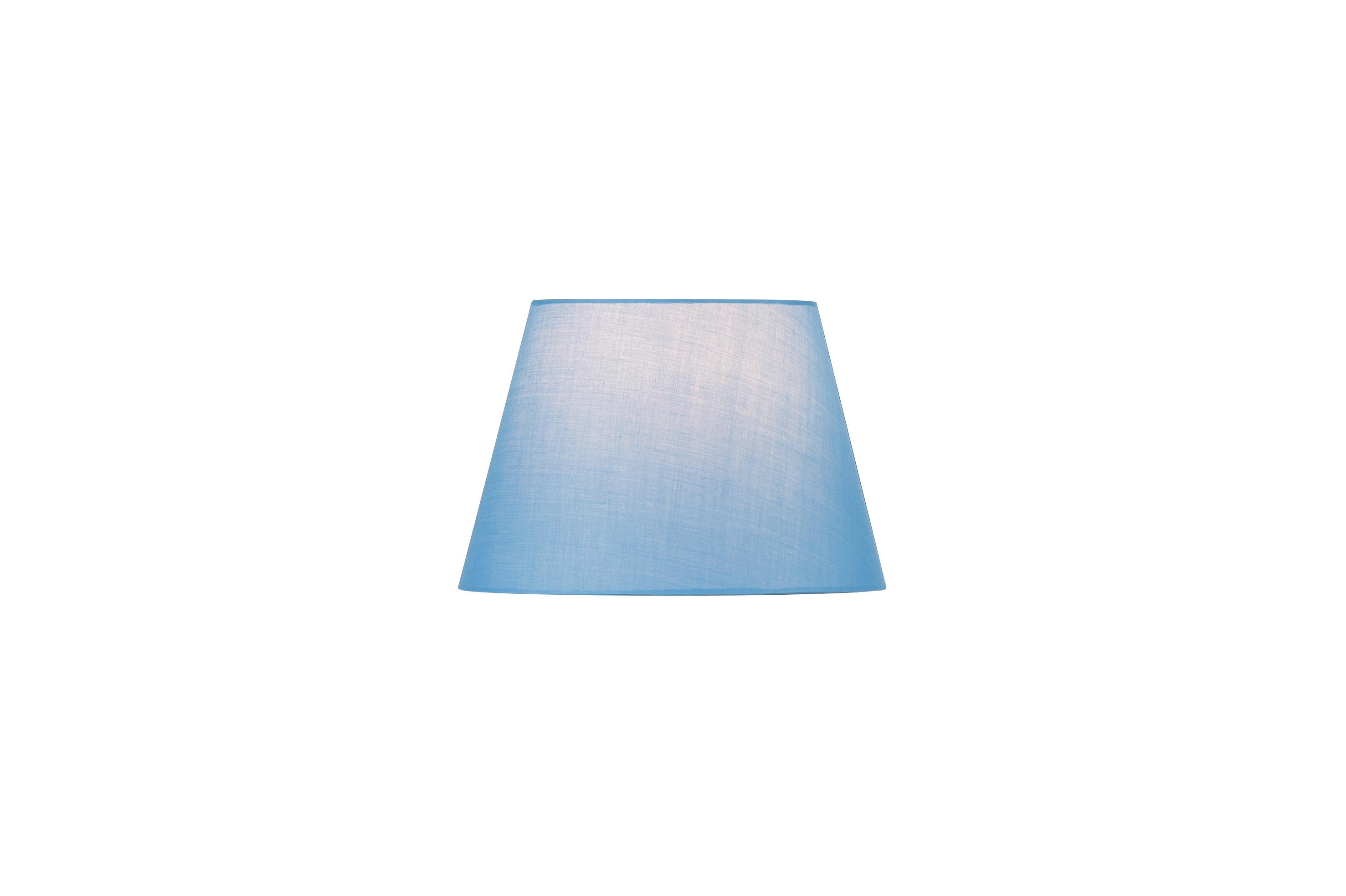 1 Stk FENDA, Leuchtenschirm, konisch, blau, Ø/H 30/20 cm LI156167--