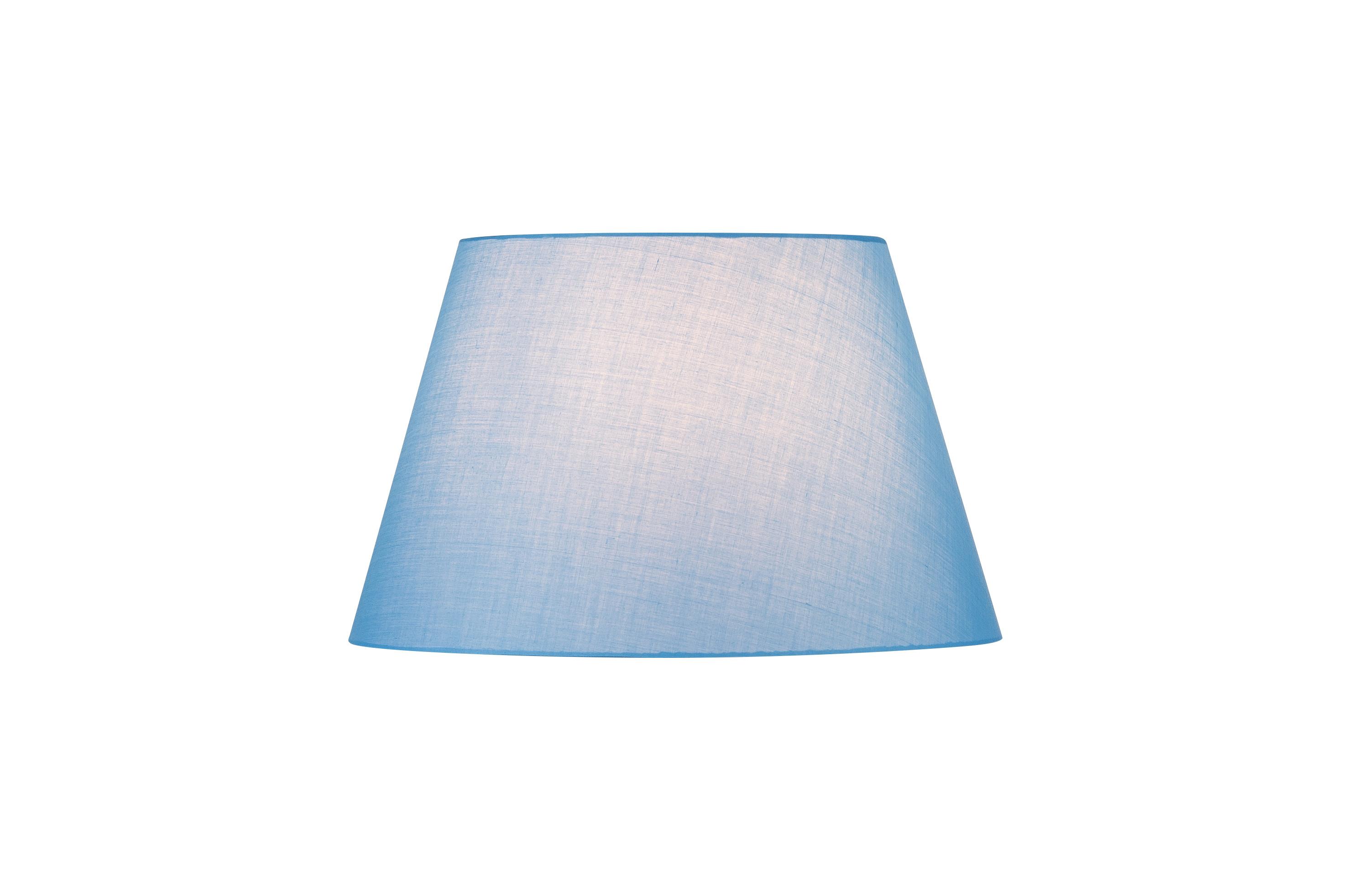 1 Stk FENDA, Leuchtenschirm, konisch, blau, Ø/H 45,5/28 cm LI156187--