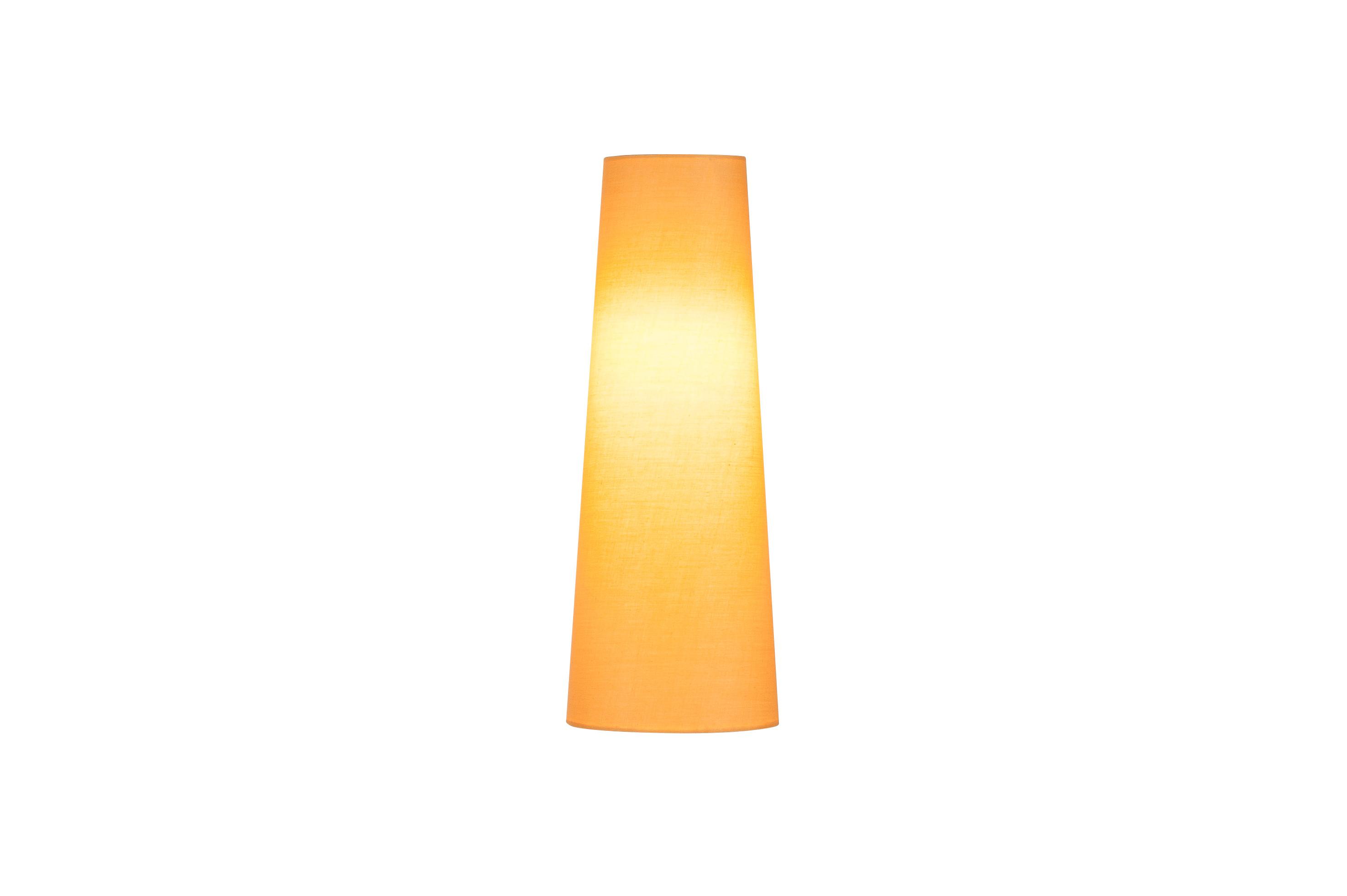 1 Stk FENDA, Leuchtenschirm, konisch, gelb, Ø/H 15/40 cm LI156204--