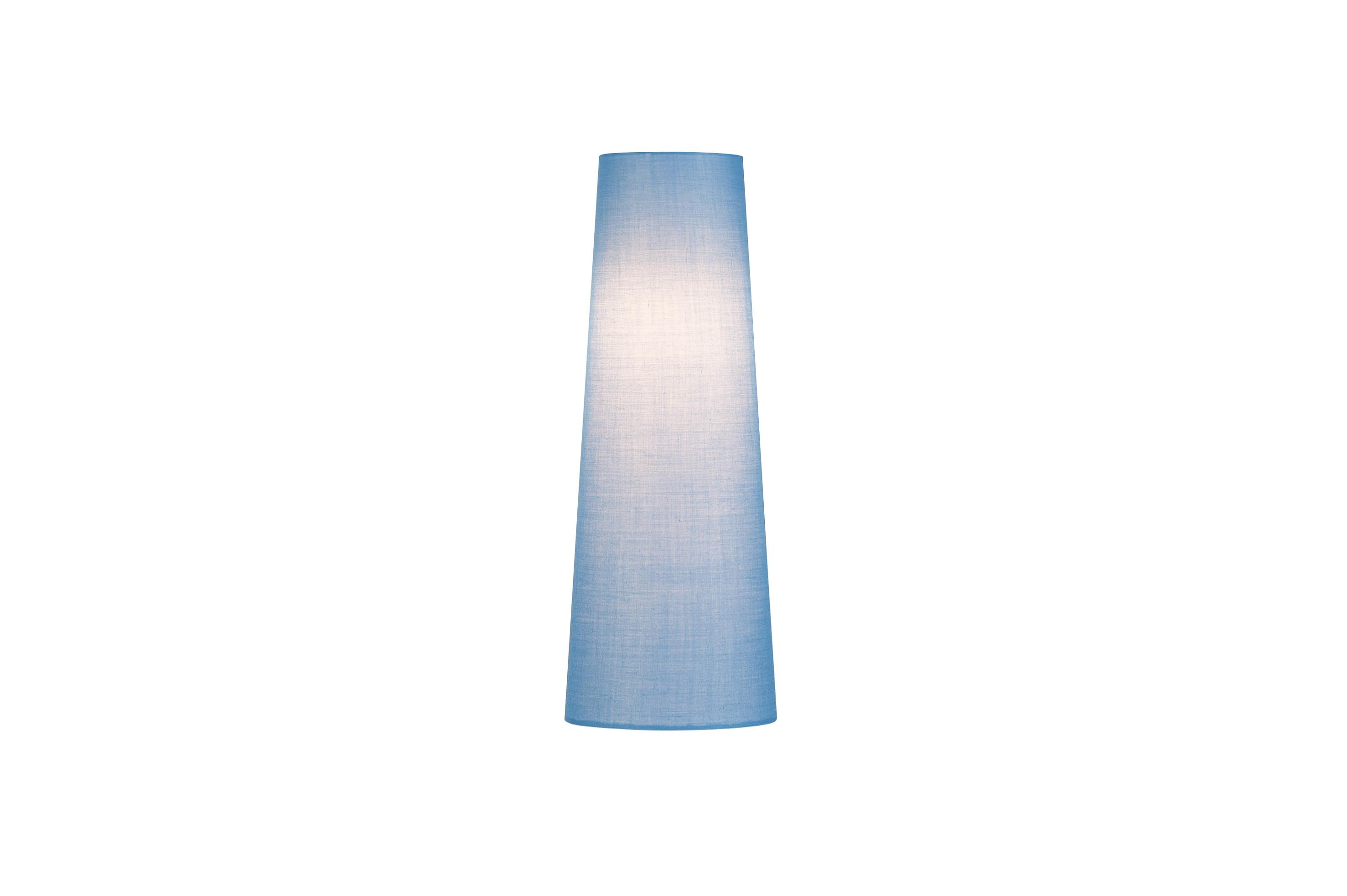 1 Stk FENDA, Leuchtenschirm, konisch, blau, Ø/H 15/40 cm LI156207--