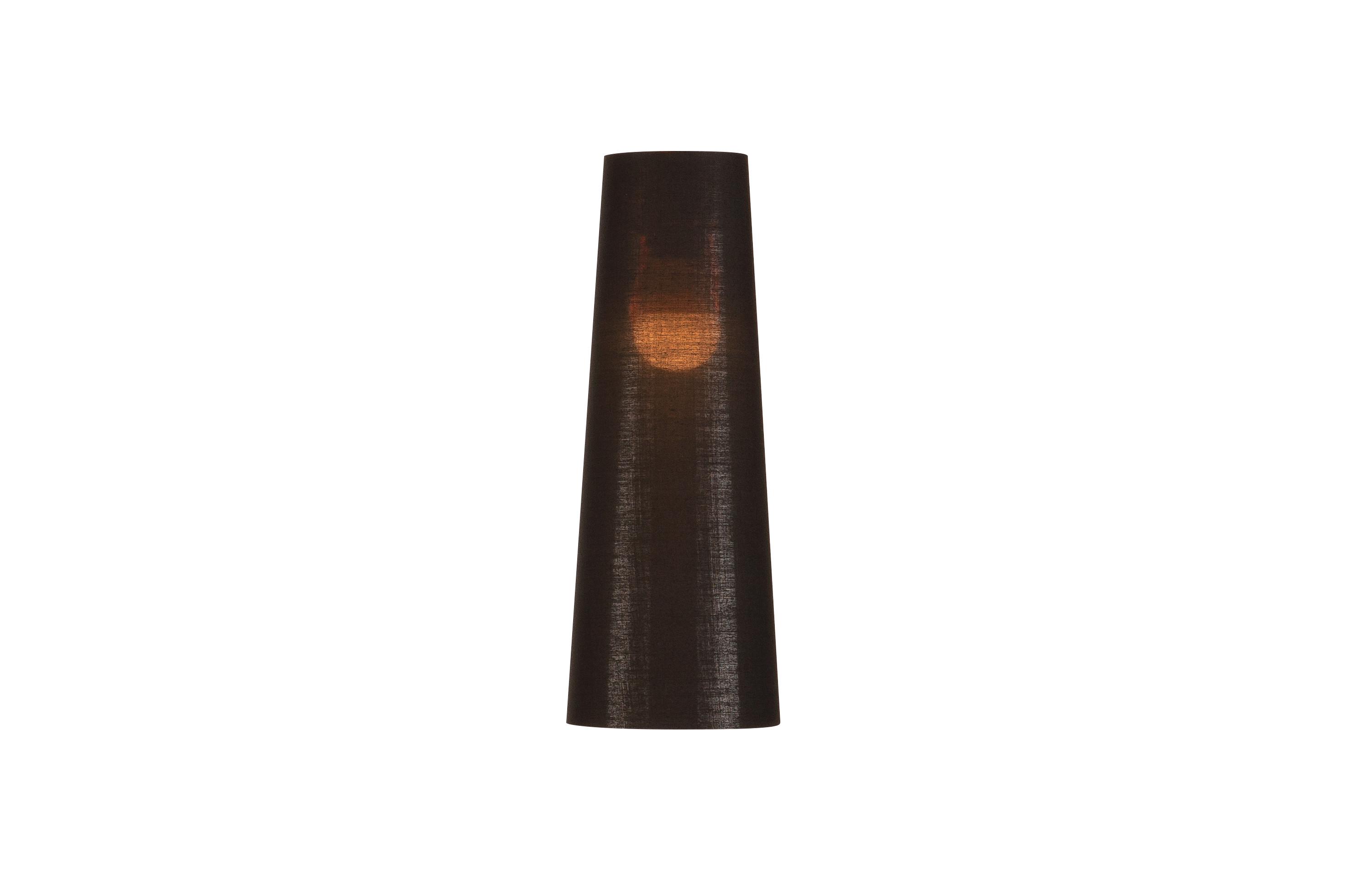 1 Stk FENDA, Leuchtenschirm, konisch, schwarz/kupfer, Ø/H 15/40 cm LI156212--