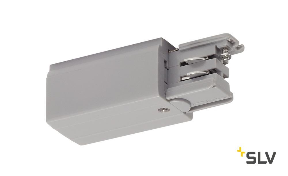 1 Stk Einspeiser für 3P.-Schiene R-Version, silbergrau LI175044--