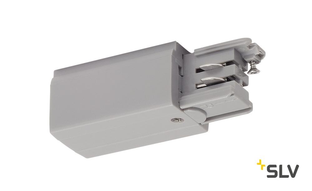 1 Stk Einspeiser für 3P.-Schiene L-Version, silbergrau LI175054--