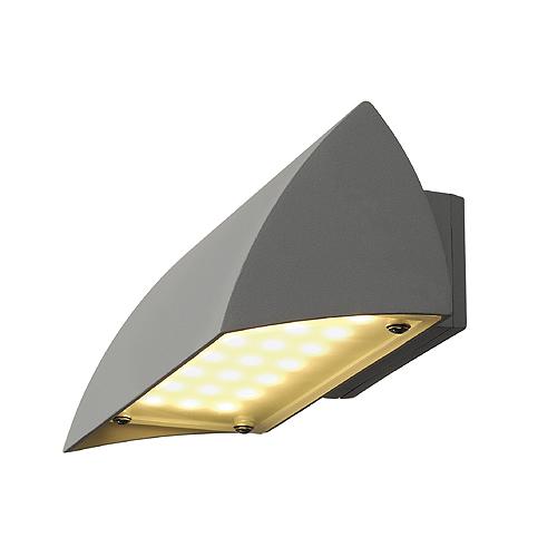1 Stk NOVA LED WALL OUT Wandleuchte, 4,2W, 3000K, IP44, silbergrau LI227054--