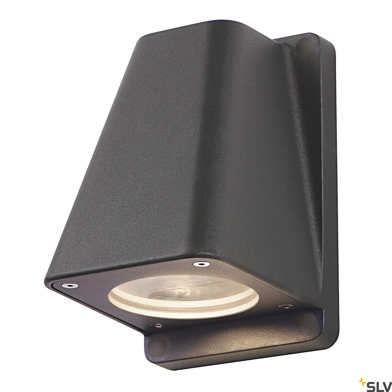 1 Stk WALLYX GU10 Wandleuchte, max. 50W, IP44, anthrazit LI227195--