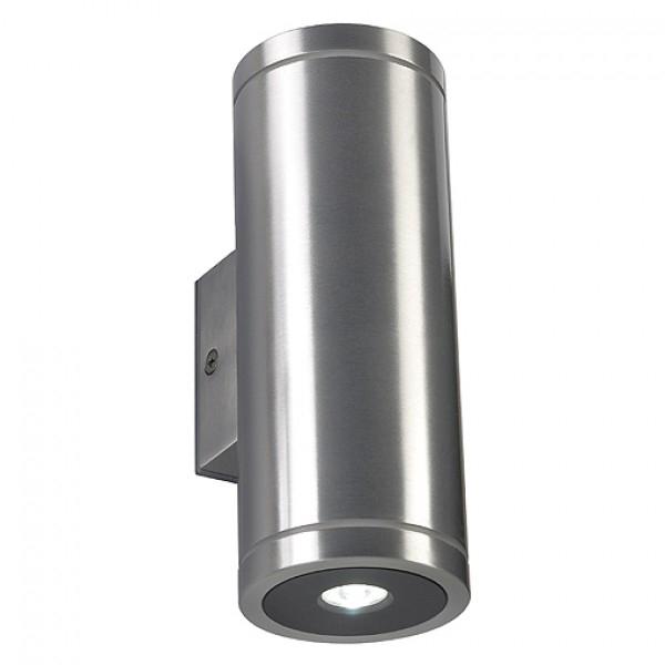 1 Stk ROX LED UP/DOWN, 2x3W, 3000K, IP44, Alu gebürstet/lackiert LI227232--