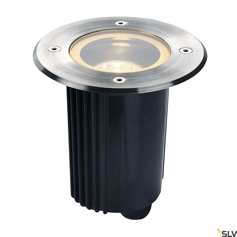 1 Stk DASAR 115 GU10 Bodeneinbaul., max.35W, IP67, rund, Edelstahl LI229320--