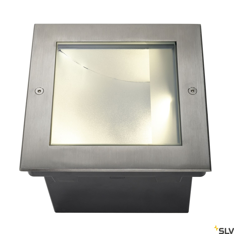 1 Stk DASAR LED SQUARE Bodeneinbaul., 28W, 3000K, asymm, Edelstahl LI229383--