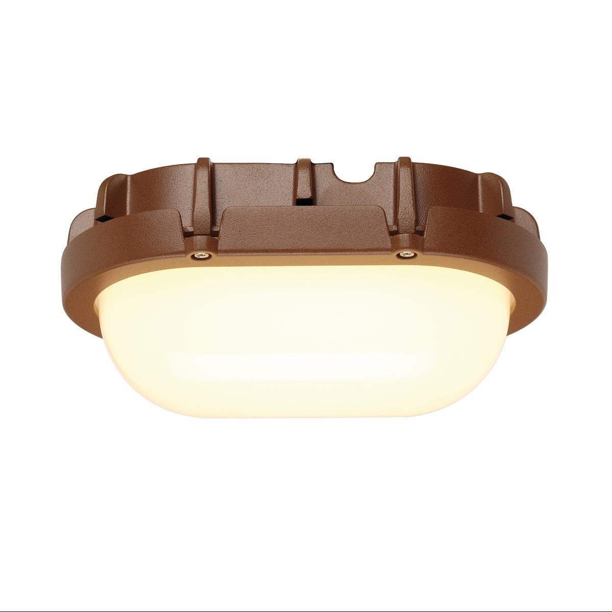 1 Stk TERANG Wand-& Deckenleuchte, 8W LED, 3000K, oval, rostfarben LI229927--