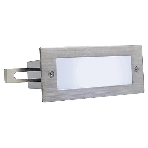 1 Stk BRICK LED 16 Wandleuchte, 1W, 6500K, IP44, Edelstahl 304 geb LI230231--