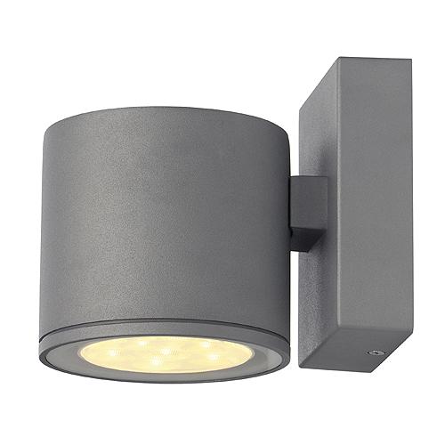 1 Stk SITRA LED Wandleuchte, 6x1W, 3000K, IP44, rund, silbergrau LI230332--