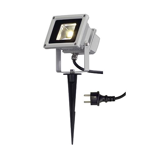 1 Stk LED OUTDOOR BEAM, 10W, 3000K, 100°, IP65, silbergrau LI231102--