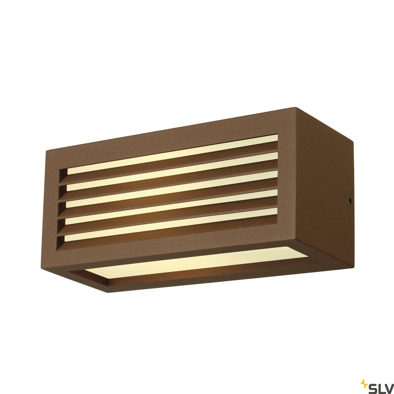 1 Stk BOX-L E27 Wandleuchte, E27, max. 18W, eckig, rostfarben LI232497--