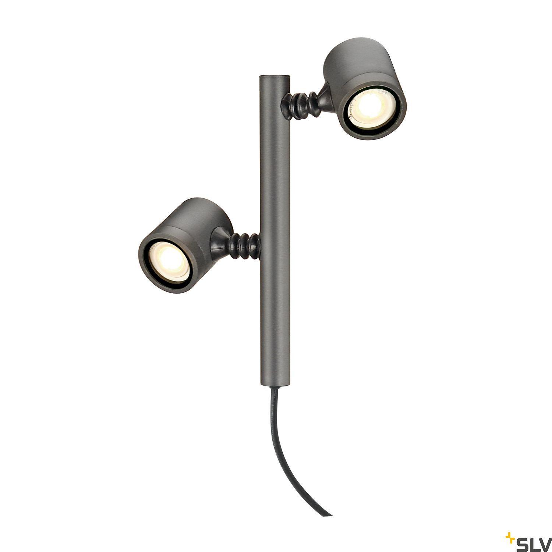 1 Stk NEW MYRA 2 Leuchtenkopf, GU10, max. 2x4W, IP44, anthrazit LI233185--