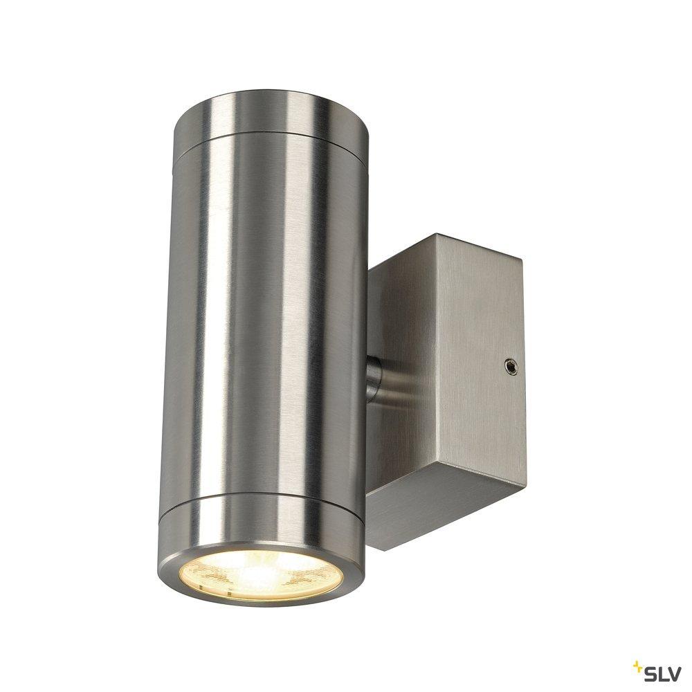 1 Stk Anista Steel LED UP/DOWN Wandl, 2x3W, 3000K, IP44, Edelstahl LI233312--