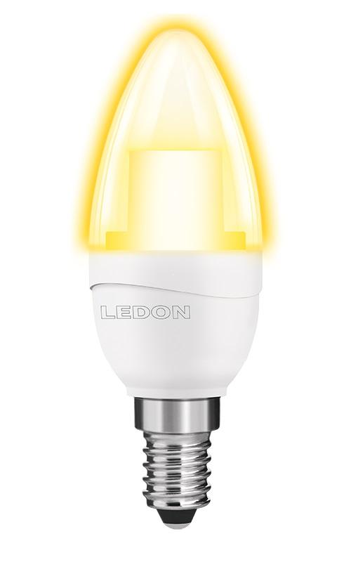 LED Lampe B35 5W, 2700K, 250lm, klar, E14, 230V
