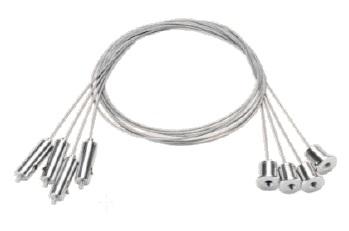 1 Stk LED Panel Seilaufhängung Set 4x1 Meter, Serie Ledon LI29001064