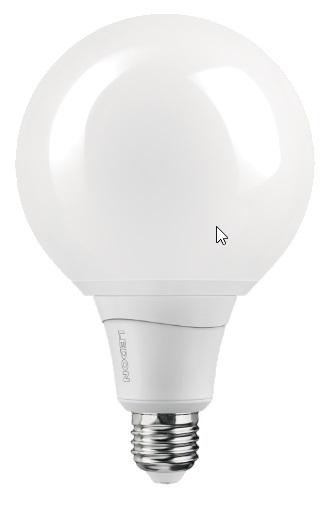 1 Stk LED Lampe G120 12.5W, 2700K, 1050lm, matt, E27, 230V, Dim LI29001081