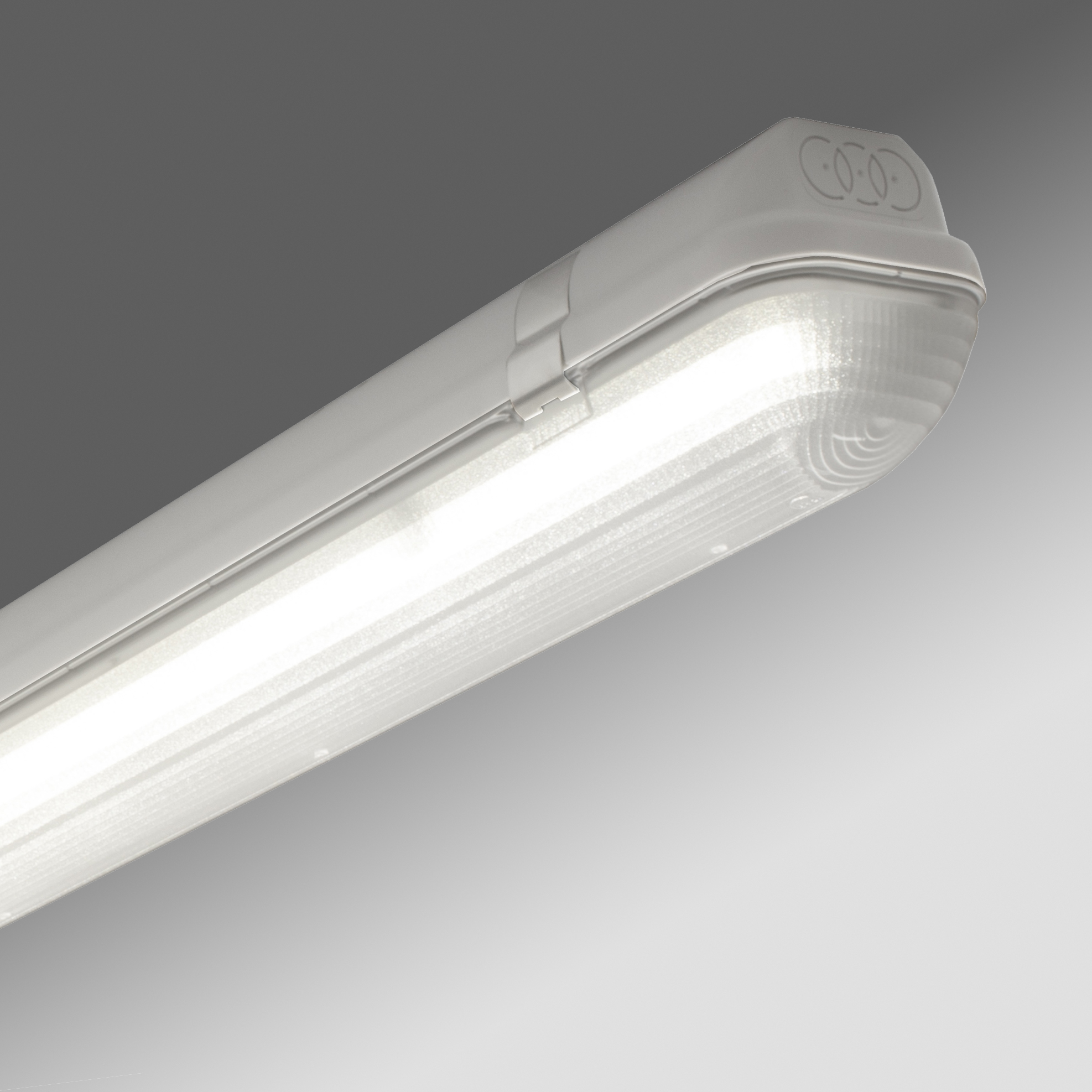 1 Stk Linda LED PC 1x24W 4000K, 3802lm, DALI, IP65, grau, l=1270mm LI2JL35124