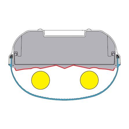 Parabolreflektor breitstrahlend für Linda 2-28/54W