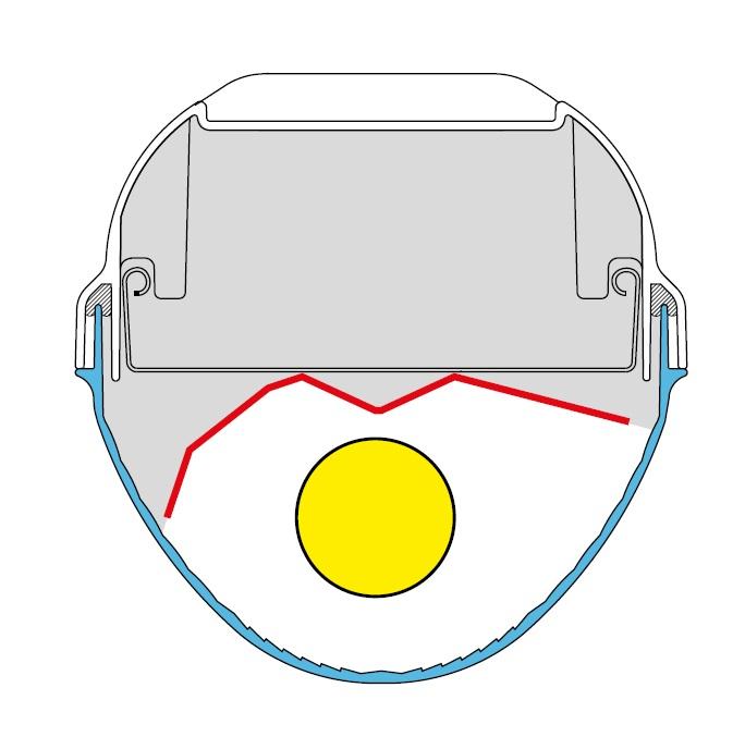 Parabolreflektor asymmetrisch für Linda 1x35/49/80W