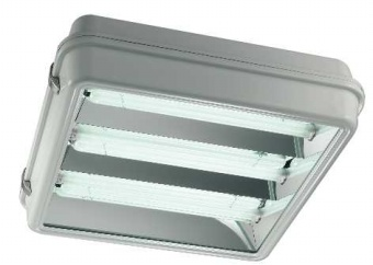 1 Stk Cub R90 Notlicht eng 4xTC-L55W IP43 Reflektorl. quadratisch LI2L245608