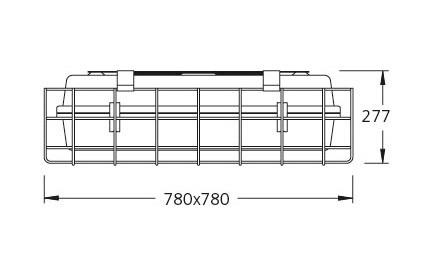 1 Stk CUB Schutzgitter verzinkt 5mm LI2L2X0210