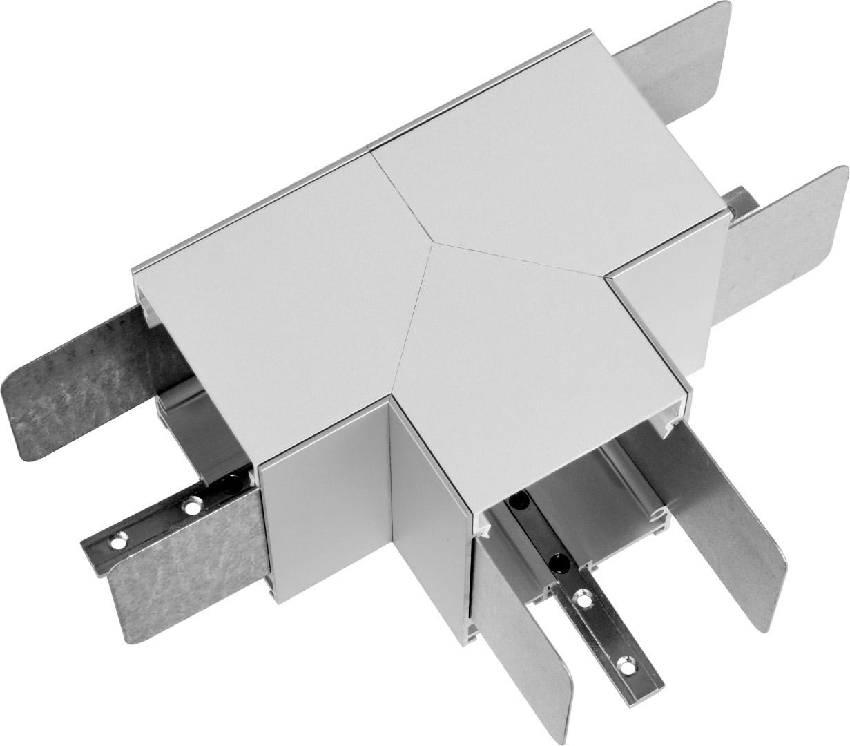 1 Stk KVADRA 70M K3, T - Verbinder mit opaler Abdeckung LI35000060