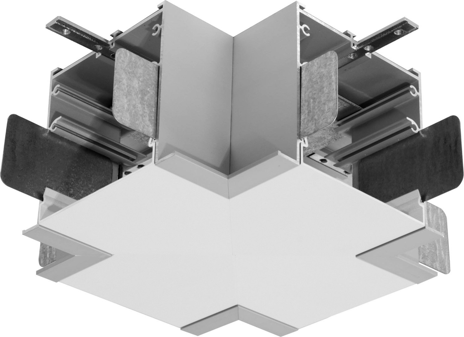 1 Stk KVADRA 70M K4, X - Verbinder mit opaler Abdeckung LI35000065